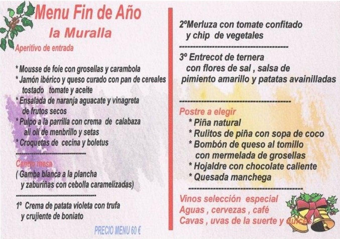 Menu fin de año Cuenca